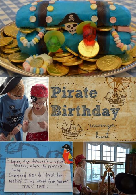 pirate birthday party scavenger hunt idea