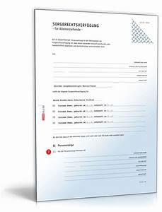 Einverständniserklärung Reise Kind Muster : sorgerechtsverf gung alleinerziehende vorlage zum download ~ Themetempest.com Abrechnung