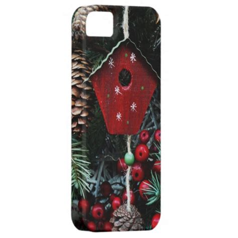 old fashioned christmas tree decorations birdhouse iphone