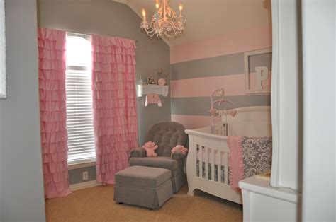 Peyton's Pink And Gray Nursery  Project Nursery. Industrial Bathroom Vanity. Charcoal Rug. Architectural Salvage Dallas. Mid Century Modern Dining Room. Mid Century Couches. Fireplace Decoration Ideas. Mdf Cabinets. Curved Chaise Lounge