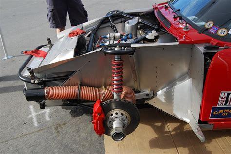 porsche   latino racing  left front suspension