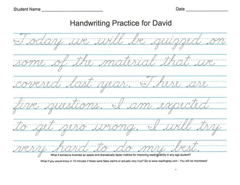 free printable cursive handwriting worksheets cursive