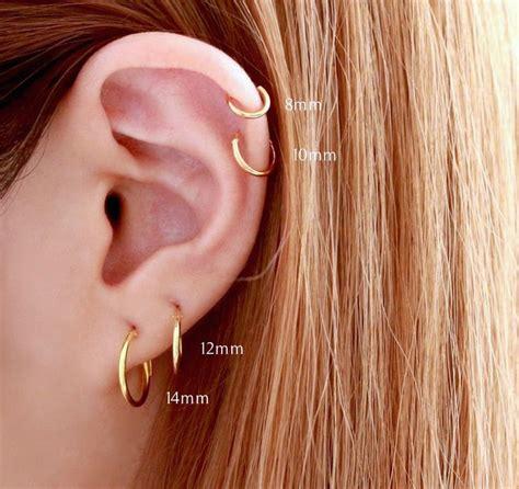 cartilage piercing hoop ideas  pinterest