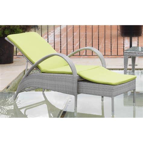 chaise longue extérieur chaise longue en aluminium et résine grise spécial extérieur