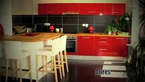 Cuisine Americaine Ikea : cuisine ikea rouge dessin sketchup et pose youtube ~ Preciouscoupons.com Idées de Décoration