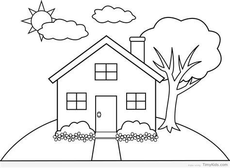 simple house drawing  kids  getdrawings