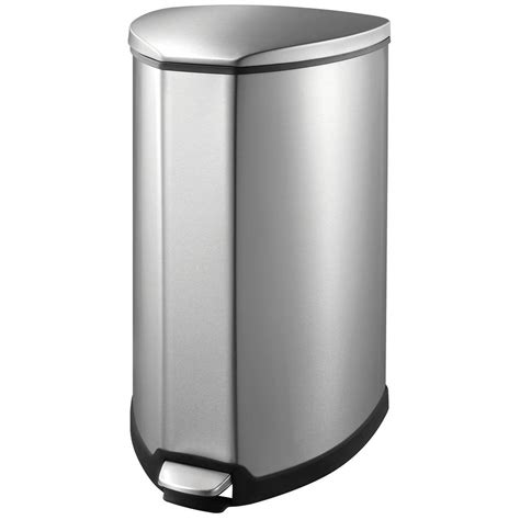 100 chrome bathroom trash can with lid skinny trash