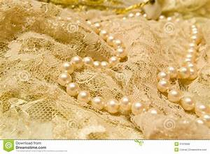 Lace and pearls stock photo. Image of jewelry, vintage ...