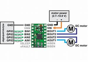 Drv8833 Dual Motor Driver Carrier  1 2a And Low Voltage