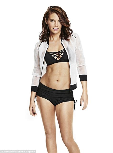 lauren cohan bikini lauren cohan models fantastic bikini body on the cover of
