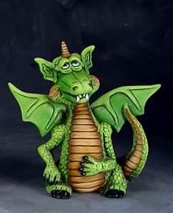 Unfinished Ceramic Fantasy Gardens Magical Dragon Figurine