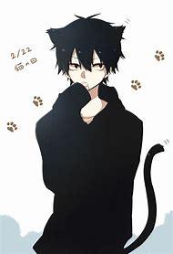 Anime Boy With Black Hair Neko Ears