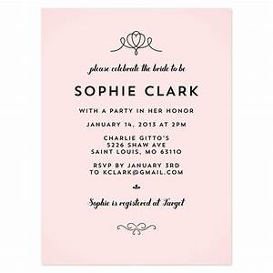 bridal shower invitation wording references steph39s With sample wedding shower invitations