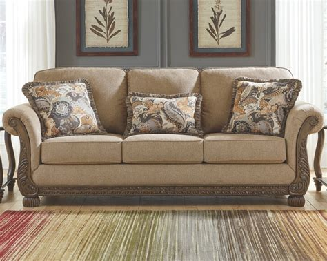 westerwood rolled arm wood trim sofa and seat