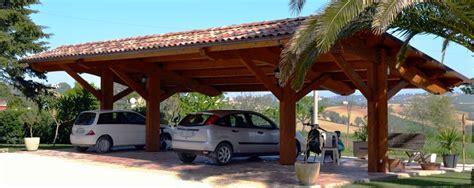 Carport Für 4 Autos by Carport Carport In Legno A Struttura Unica Euroistal