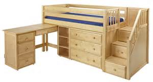 maxtrixonline low loft bed with stairs steps