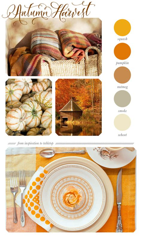 Tabletop Inspiration by Autumn Harvest Tabletop Inspiration Colorboards 100