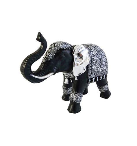 beeld olifant zwart en zilver groot formaat
