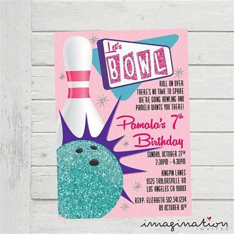 Bowling Invitation Ten Pin Bowling Invite Birthday Party