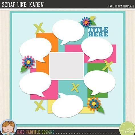 digital scrapbooking template scrap  karen