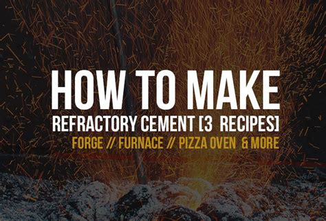 refractory concrete step  step  quick