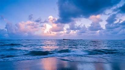 Sea Horizon Surf Philippines Sunset Laptop Background