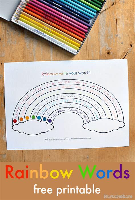printable rainbow writing sheets nurturestore
