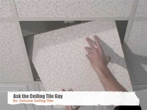 ceiling tiles   replace youtube