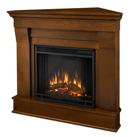 real flame chateau corner electric fireplace espresso