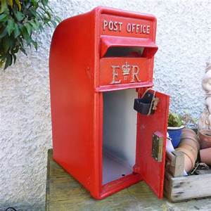 new replica or reproduction vintage style gr or er post With antique letter box for sale