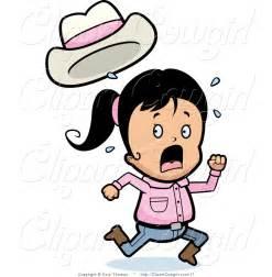 Scared Girl Running Clip Art