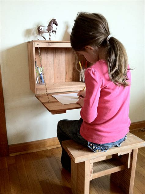 custom built fold  desk  bench   child