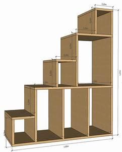 Etagere Escalier Bois : plan 2d de l 39 escalier tag re deco pinterest 2d et bricolage ~ Teatrodelosmanantiales.com Idées de Décoration