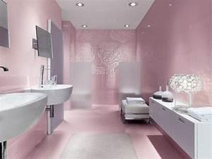 carrelage de salle de bains original 90 photos inspirantes With carrelage rose salle de bain