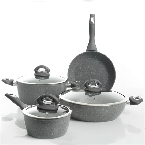 nonstick cookware oster marble caswell exterior piece interior pan