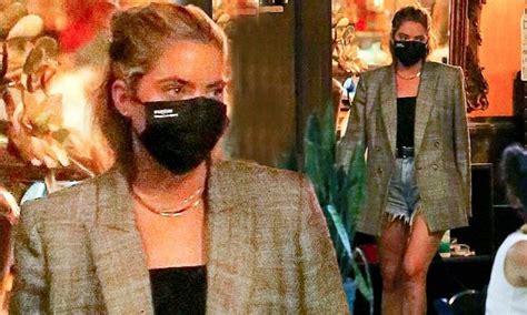 Ashley Benson looks effortlessly chic in oversized blazer ...