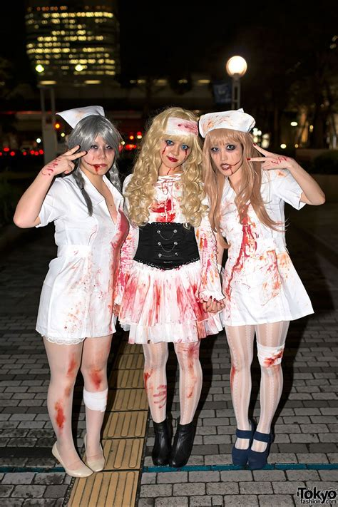Cute Halloween nurses at the VAMPS Halloween party from ...