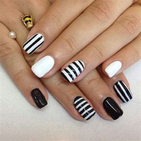 and white nail designs fabulous white and black nail designs that will charm
