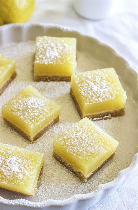 recipes with lemon healthy lemon bars refined sugar free vegan lemon bars