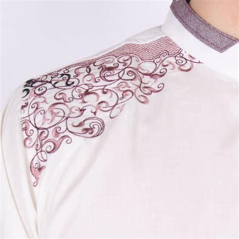 jual lebih keren baju koko kemeja muslim pria lengan panjang bordir p di lapak keren shop