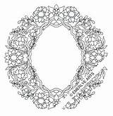 Coloring Adult Twig Wreath Emerlyearts sketch template