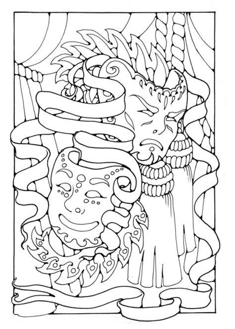 Feestneus Kleurplaat by Kleurplaat Maskers Afb 16377