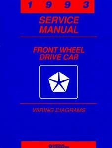 1989 Service Manual Wiring Diagrams Front Wheel Drive Car