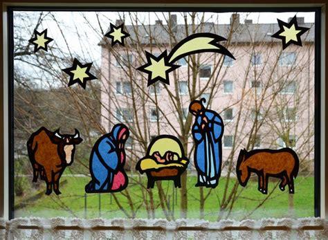 Fensterbilder Weihnachten Vorlagen Krippe by Krippen Fensterbild Weihnachten Auswahl Unter 2