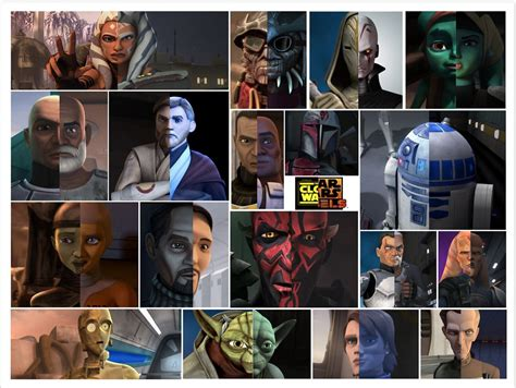 Clone Wars - Rebels Comparison   All characters that ...