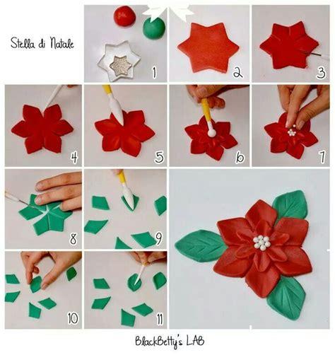pointsetta cake decoration tutorial fondant tutorial