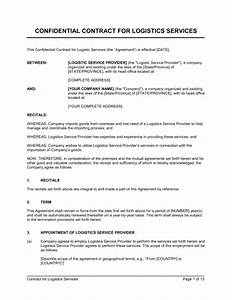 Contract for logistics services template sample form for 3pl rfp template