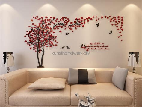 Us Couple Tree 3d Wall Stickers Living Room Bedroom Mural