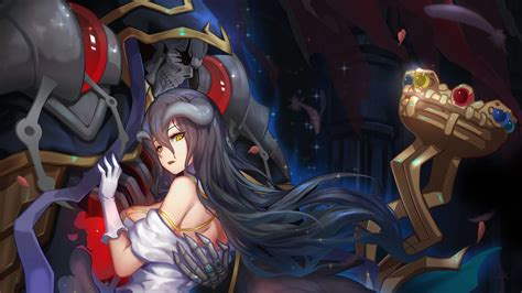 ainz ooal gown and albedo overlord 4k 9980