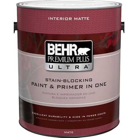 home depot interior paint behr premium plus ultra 1 gal ultra white matte
